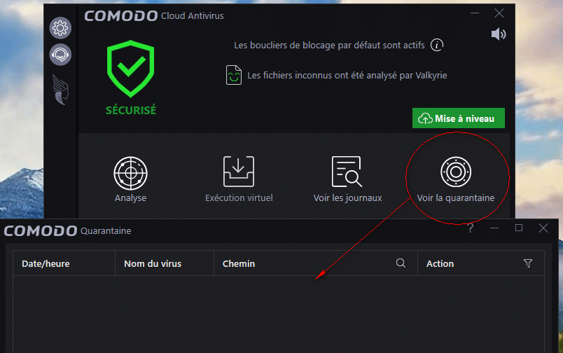 Comodo Cloud Antivirus tutoriel sospc 16