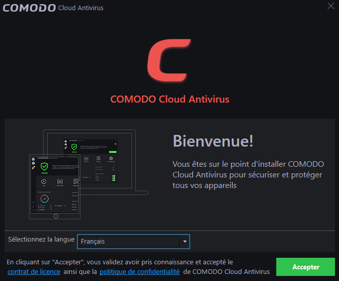 Comodo Cloud Antivirus tutoriel sospc 1