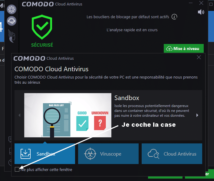 Comodo Cloud Antivirus tutoriel sospc 4