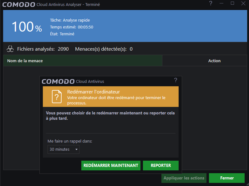 Comodo Cloud Antivirus tutoriel sospc 5