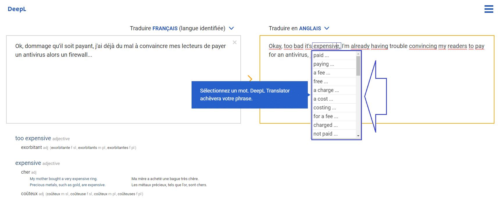 DeepL : un nouveau traducteur en ligne sospc.name 6