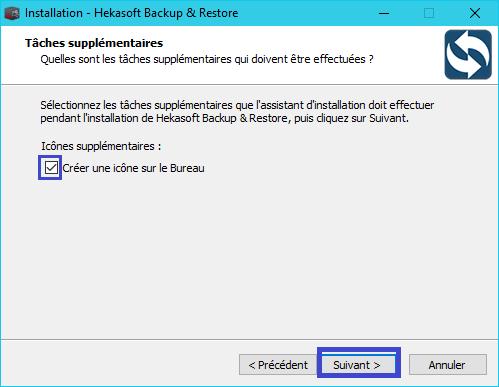 Hekasoft Backup & Restore installation 5