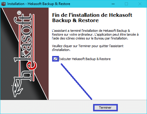 Hekasoft Backup & Restore installation 7