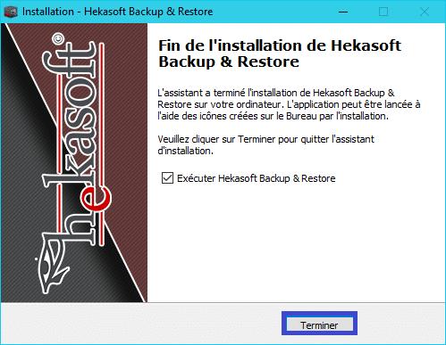 Hekasoft Backup & Restore mise à jour tuto 5