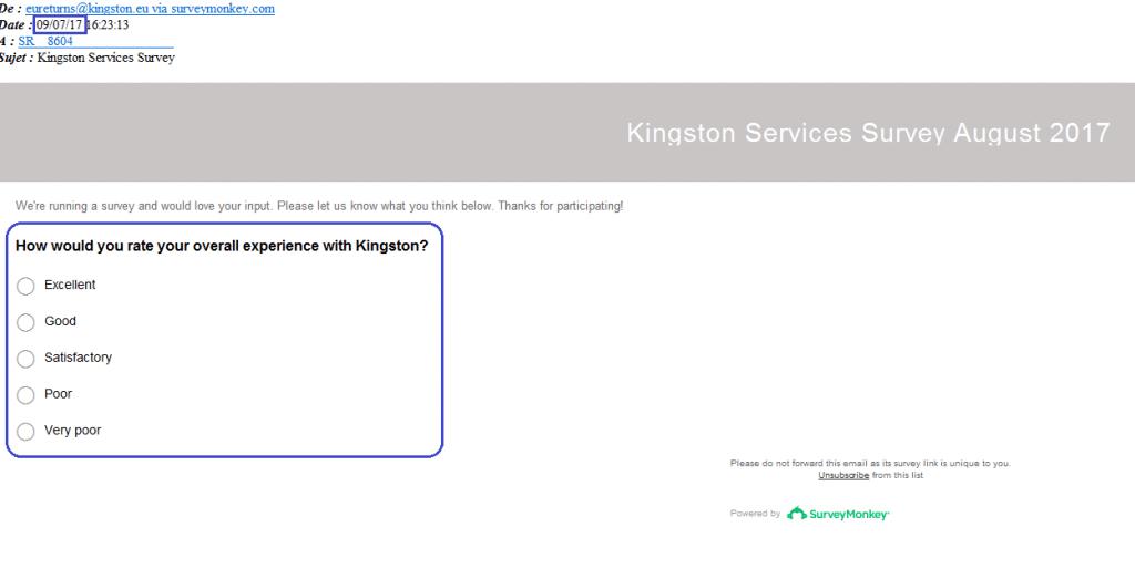 S.A.V Kingston SONDAGE