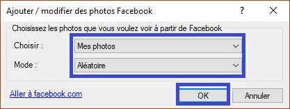 John's Background Switcher : personnalisez le fond d'écran de votre ordinateur. Exemple Facebook 5