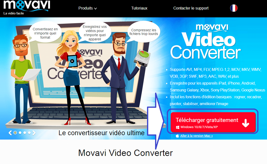 Movavi Video Converter 17 : conversion vidéo