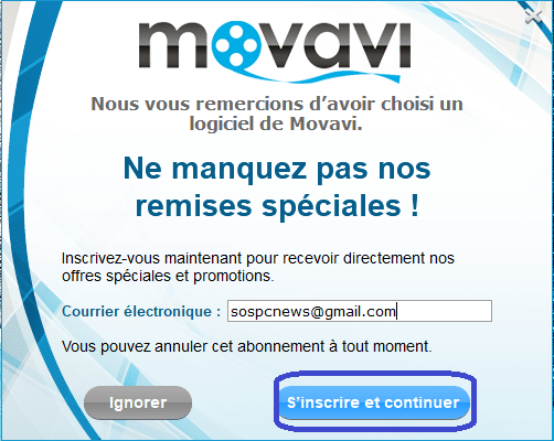 Movavi Video Converter newsletter