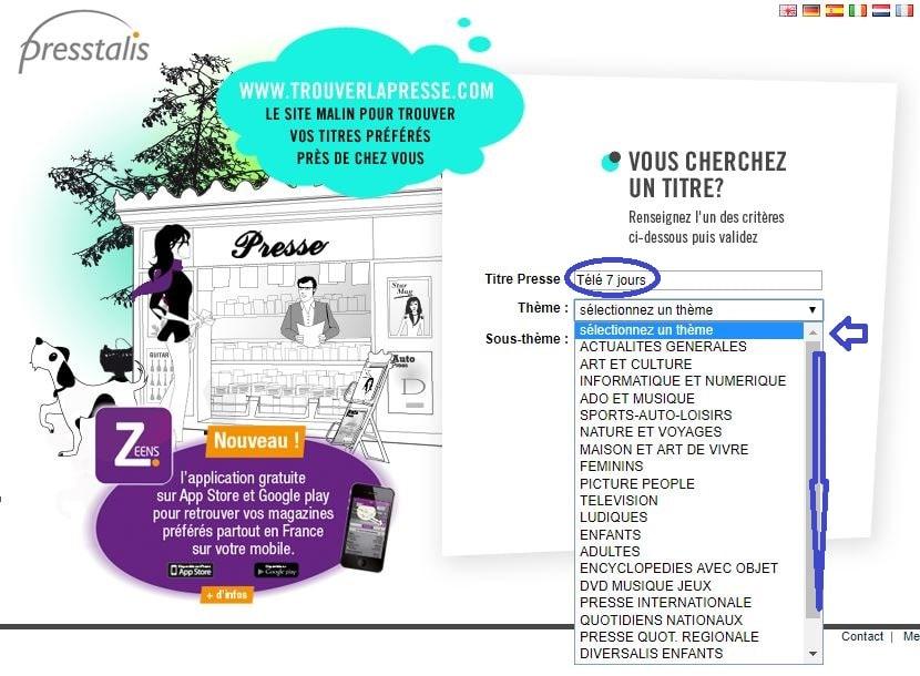 trouverlapresse.com. site de recherche de magazines 2