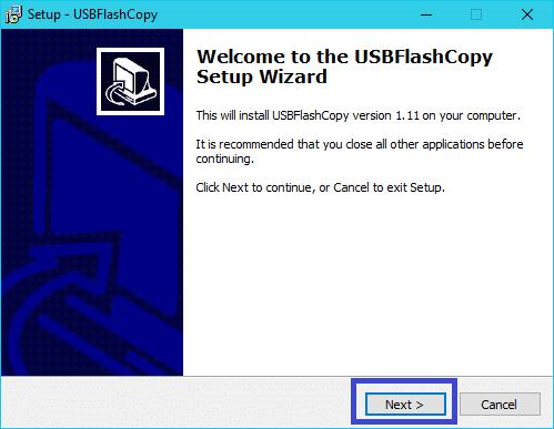 USBFlashCopy : tutoriel installation 1