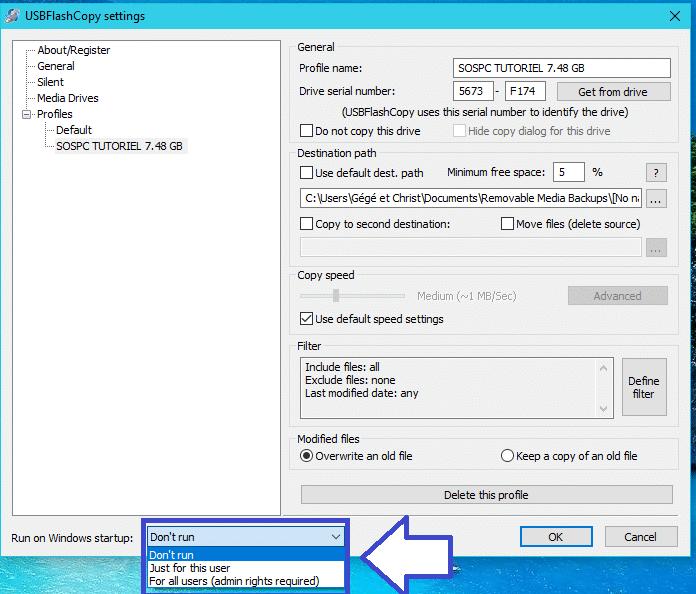 USBFlashCopy : sauvegardez clés périphériques disques USB. tutoriel 6