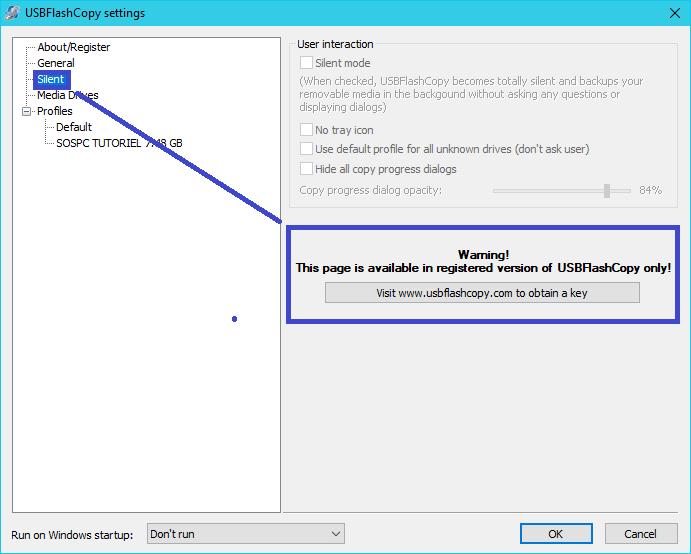 USBFlashCopy : sauvegardez clés périphériques disques USB. tutoriel 2