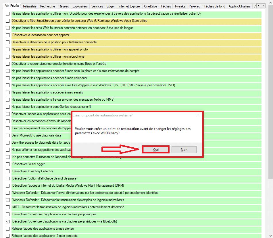 W10Privacy : supprimez les espions de Microsoft 2