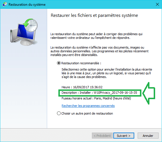 W10Privacy : supprimez les espions de Microsoft tutoriel 1