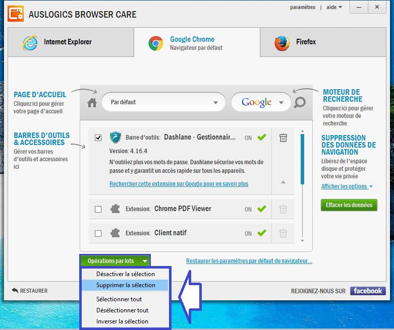 Auslogics Browser Care 4 utilisation 7