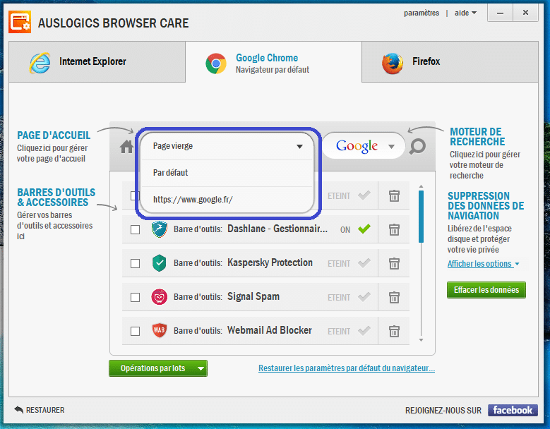 Auslogics Browser Care 4 utilisation 3