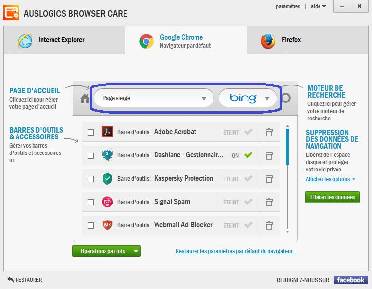 Auslogics Browser Care 4 utilisation 4