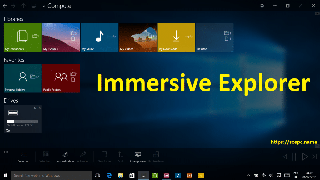 Immersive Explorer : une chouette alternative à l'explorateur de Windows.