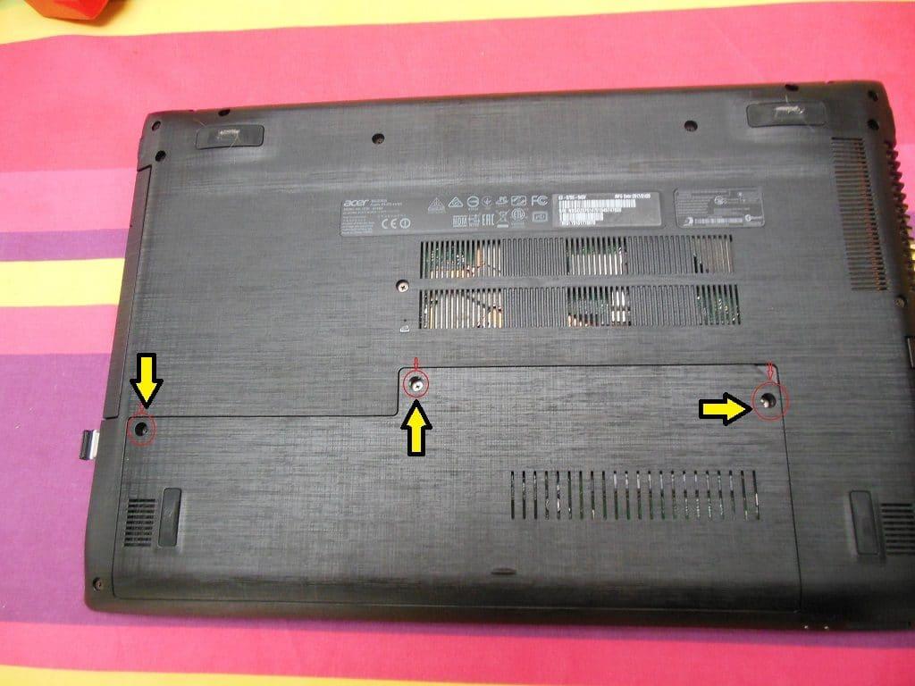 Démontage ordinateur portable Acer