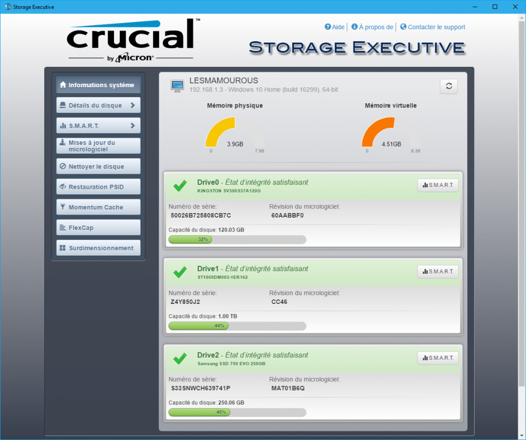crucial storage