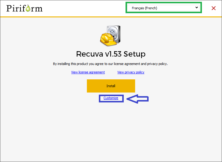 RECUVA TUTORIEL INSTALLATION 2