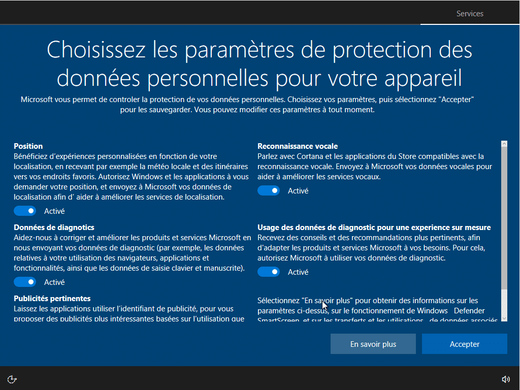 Windows 10, partie 1 : l'installation capture 6