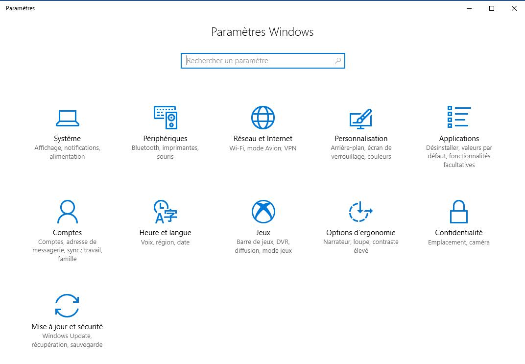 Tout savoir sur Windows 10, partie 2 : le paramétrage panneau de configuration