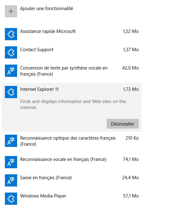 Tout savoir sur Windows 10, partie 2 : le paramétrage désinstallation