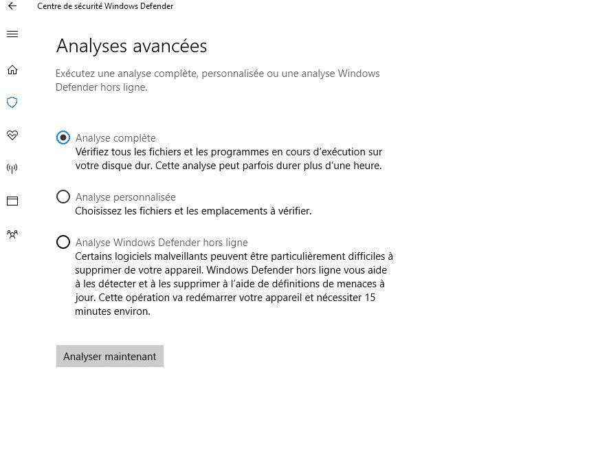 Tout savoir sur Windows 10, partie 2 : le paramétrage, capture 3 analyse