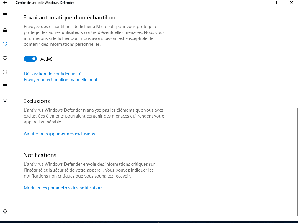 Tout savoir sur Windows 10, partie 2 : le paramétrage, protection en temps réelle