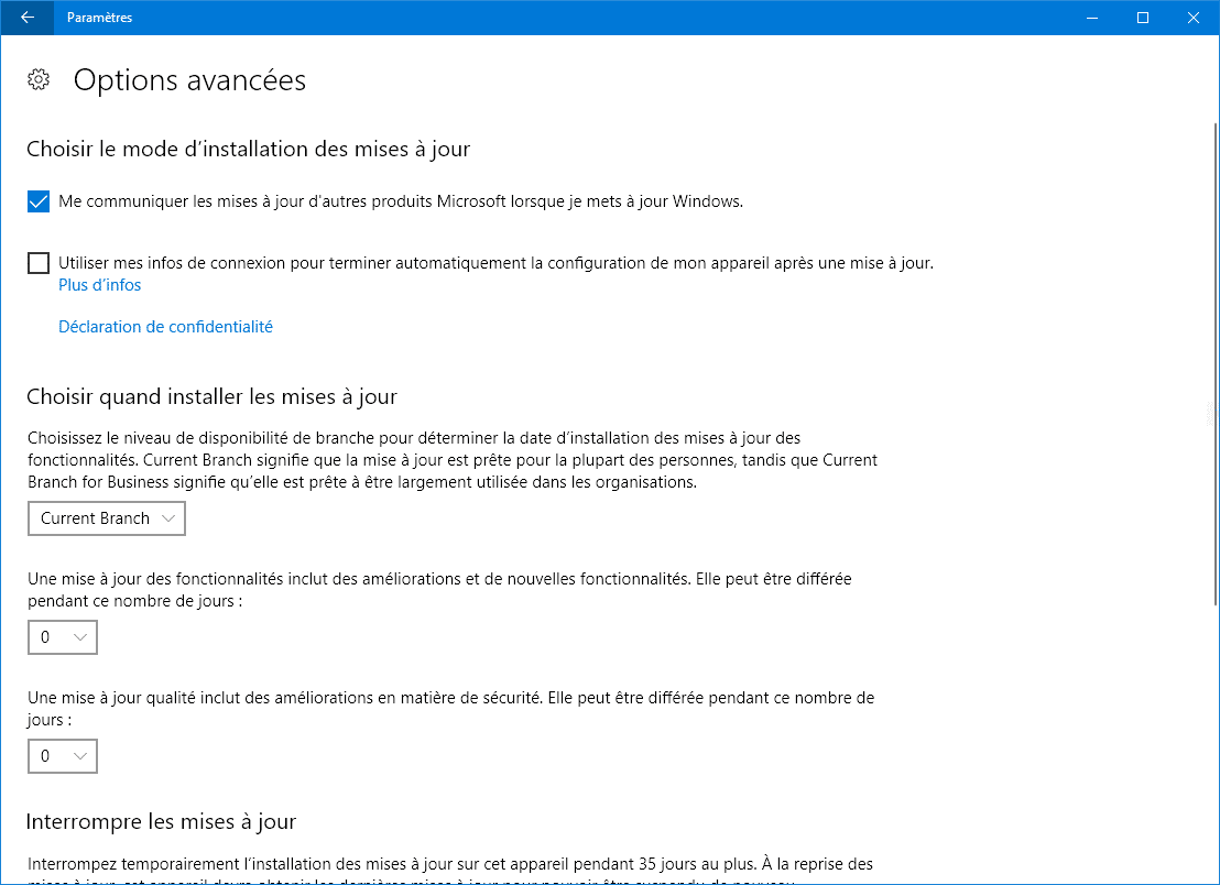 WINDOWS 10 PARAMETRES