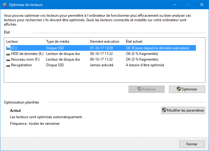 optimiser SSD