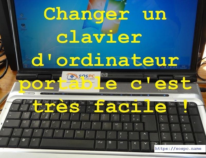 Changement d'un clavier sur un ordinateur portable HP