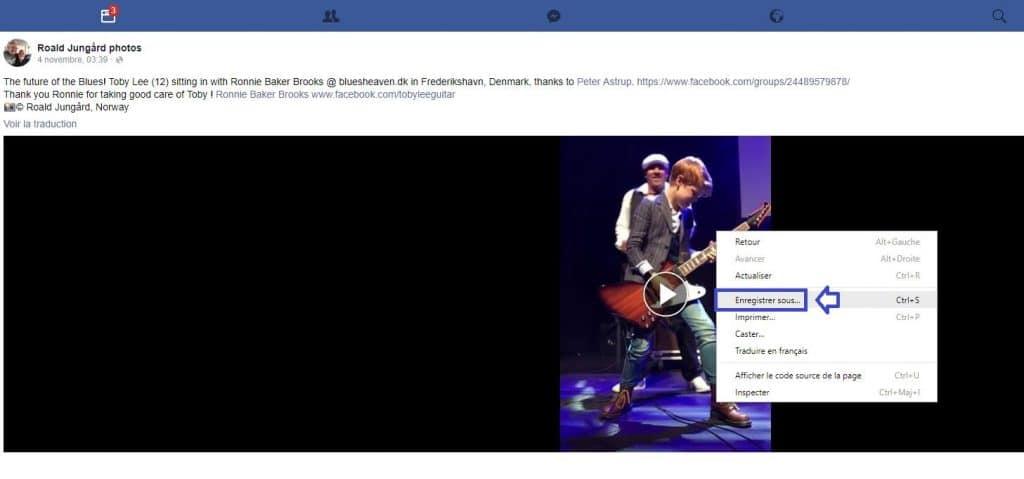Télécharger vidéo Facebook Tutoriel sospc.name 4