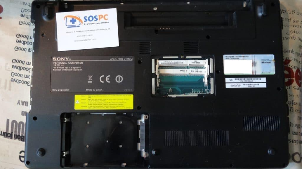Sony PCG-71212M ouvrir portable sony tutoriel sospc.name 3