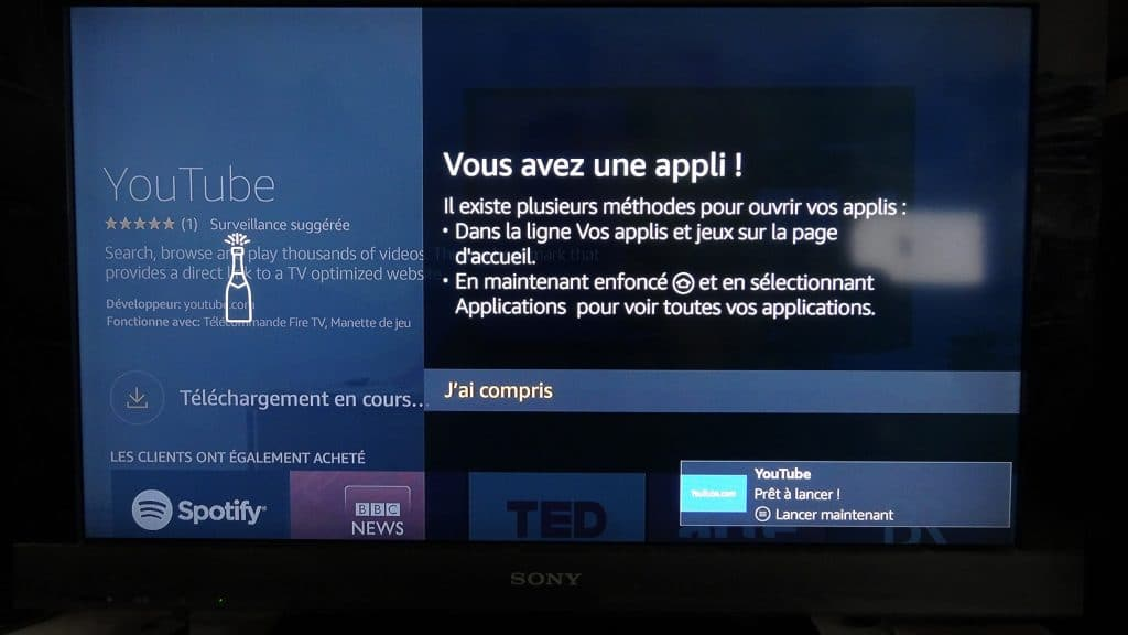 Fire TV Stick d'Amazon tutoriel installation 14