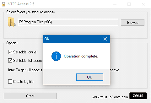NTFS Access tutoriel 7