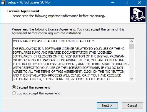 SUMO: mettez facilement à jour vos logiciels, Tutoriel capture 2