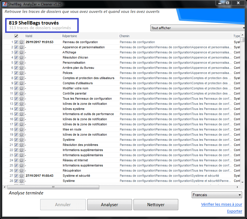 Shellbag Analyzer & Cleaner tutoriel sospc.name capture 8