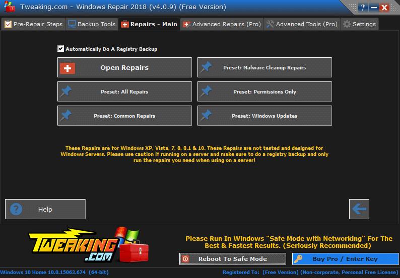Windows Repair Free tutoriel sospc.name 9