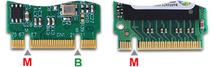 connecteurs ssd m.2 différences