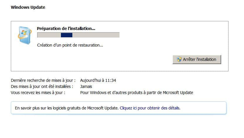 windows update ne fonctionne pas
