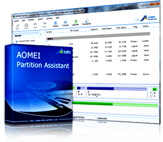 AOMEI Partition Assistant Standard Edition.