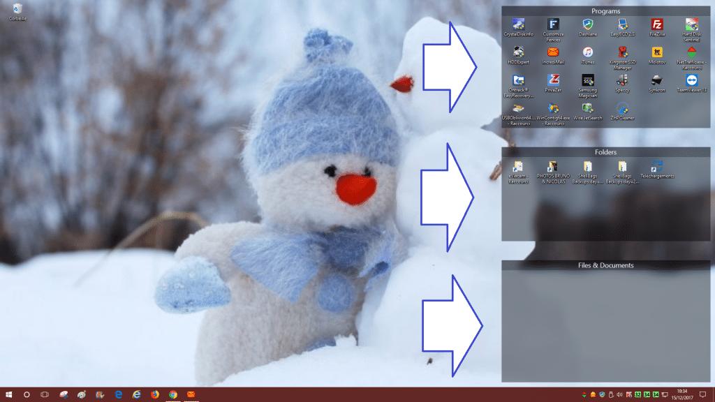logiciel Fences 3 tutoriel utilisation capture 1