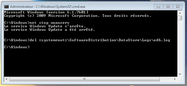 bug avec Windows Update, la solution sospc capture 12