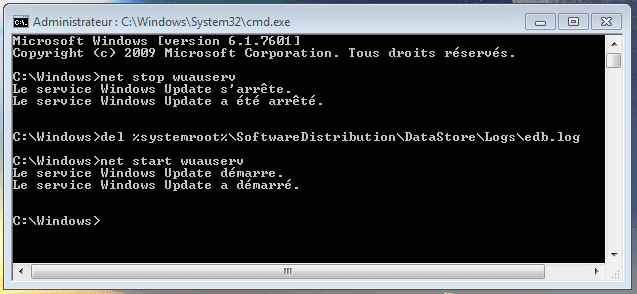 bug avec Windows Update, la solution sospc capture 14