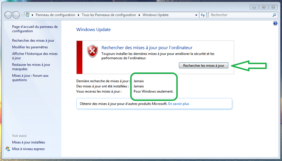 bug avec Windows Update, windows 7 la solution sospc.name 1