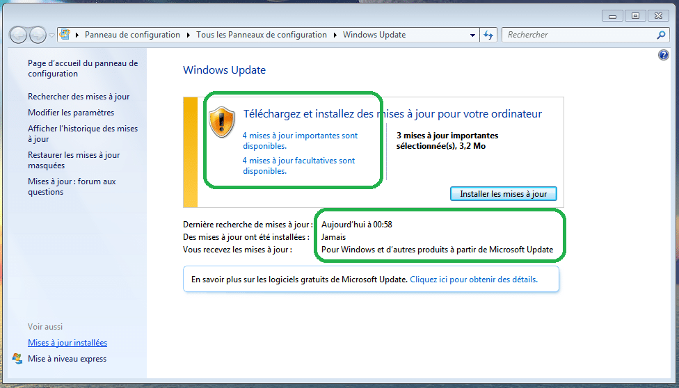 bug avec Windows Update, windows 7 la solution sospc.name 3