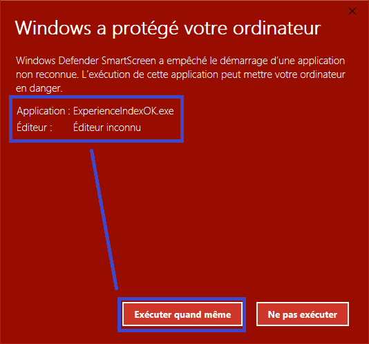 Windows a protégé votre ordinateur sospc.name