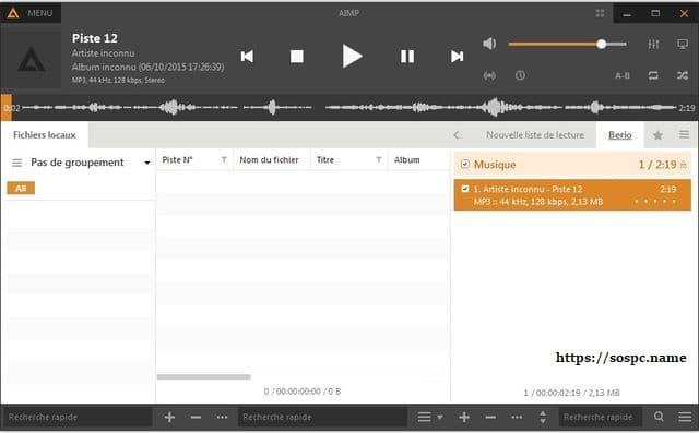 AIMP: un excellent lecteur audio tutoriel utilisation capture 4